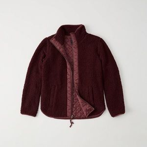 Abercrombie quilted Sherpa jacket